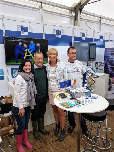 Sean Kelly MEP at the European Union tent at #Ploughing17