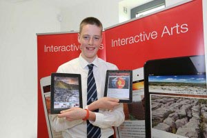 Student Enterprise Participant, Stephen Alger (17) Blackrock College, Co. Dublin, Interactive Arts.