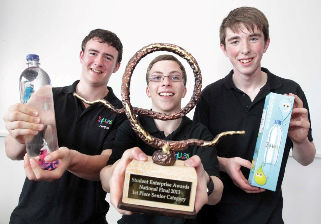 Senior Category Winners, Matthew Hewston, Fergus Munday and Luke Sheridan, St. Claire's Comprehensive School, Manorhamilton, Co. Leitrim, Squeazy App.