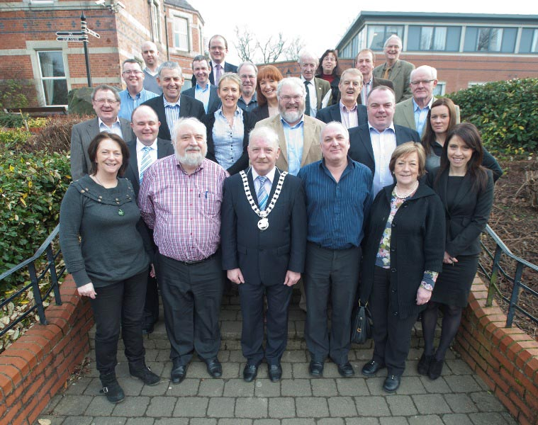 Members and staff of the S&E Regional Assembly attending the Members' workshop in the Brandon House Hotel, New Ross, January 2012