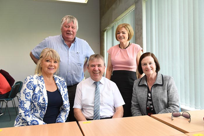 #EU in my Region Open Days Project visit to the ERDF co-funded Shannon ABC centre, Institute of Technology Tralee.  (L to R) Cllr Deirdre Forde, Cllr Joe Carroll, Cllr Henry Cremin, Cllr Deirdre O'Br