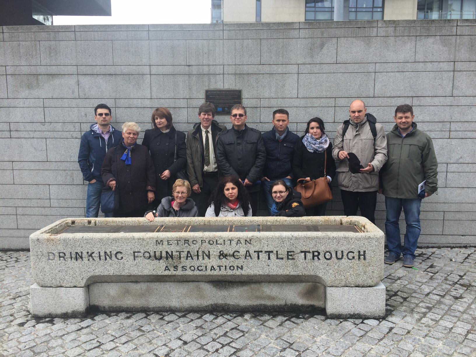Delegation from the Ministry of Development and Public Administration , Romania ; Brian Swan and Mary McInerney, Dublin City Council visiting the ERDF Gateway scheme funded Smithfield Enhancement Sche