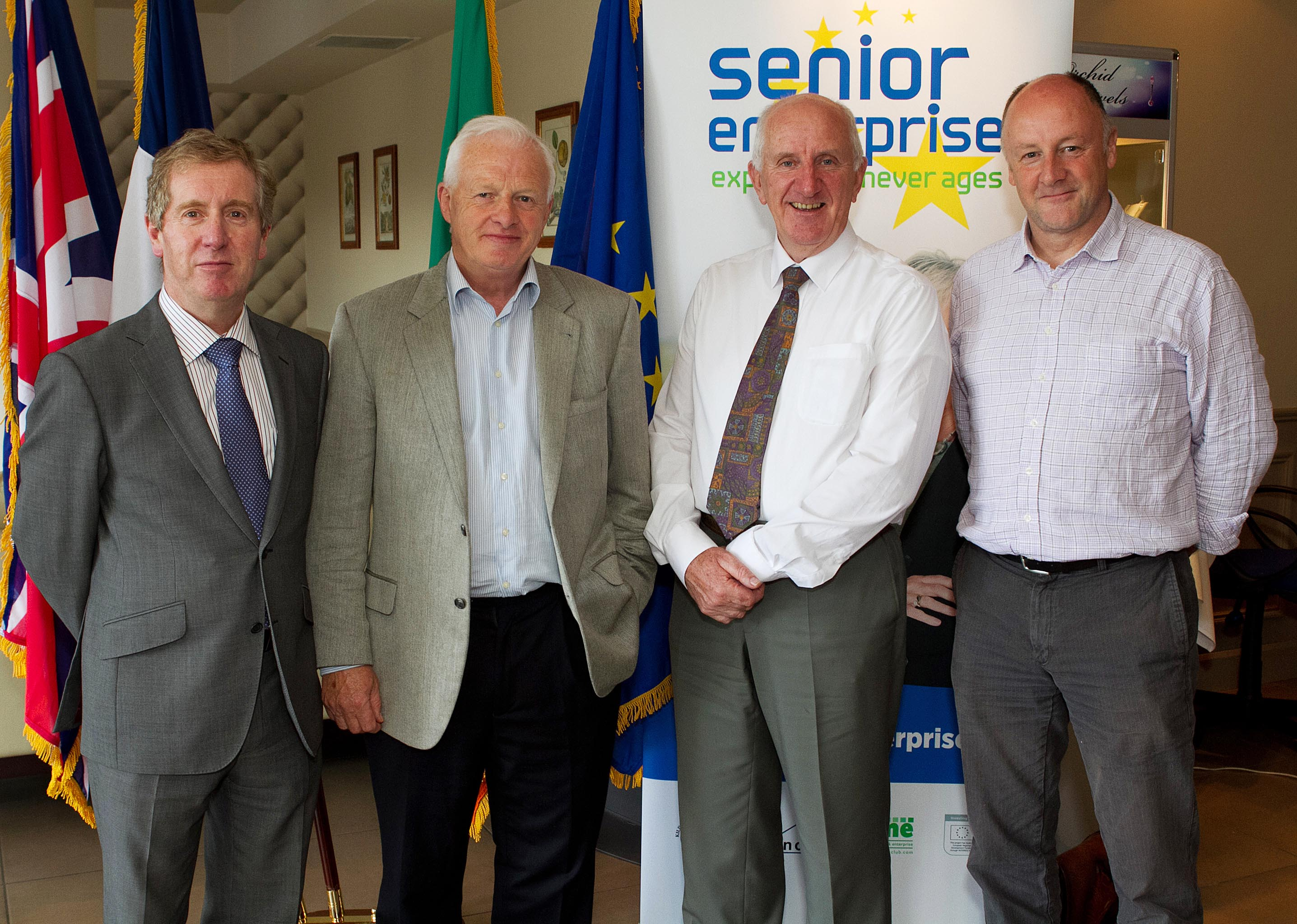 John Byrne, Project Director of Senior Enterprise with delegates attending the Senior Enterprise Workshop June 2012.