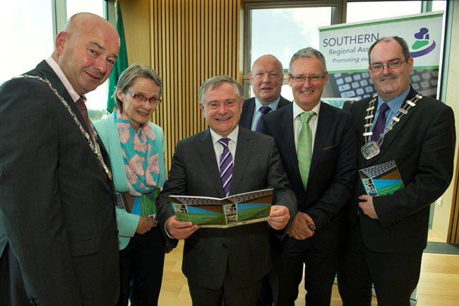 Attending the Launch Event of the Southern and Eastern Regional Operational Programme 2014-2020 in Wexford County Hall on Friday 3rd July 2015 L to R: Cllr. Kevin O'Keeffe, Cathaoirleach, SRA, Ms. Mer