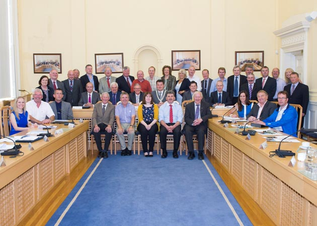 Members and Staff of the Southern Regional Assembly at the AGM in Assembly House, 10th July 2015