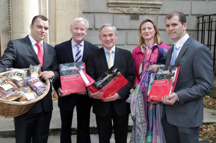 Accelerate-New Management Development Programme for Established Companies Andrew MCilhinney;VincentReynolds;Minister Bruton;Susannagh Grogan;Gerry O'Grady