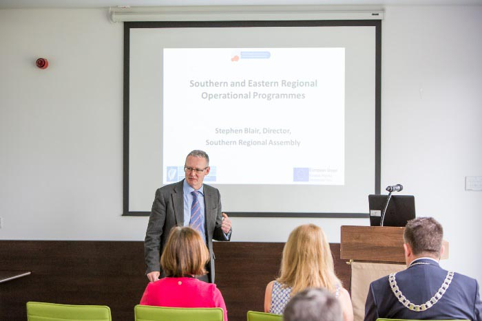 #EU in my Region Open Days Project visit to the ERDF co-funded CAPPA centre, Cork Institute of Technology.  Mr Stephen Blair, Director addressing delegates on the Southern & Eastern Regional Assembly