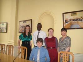 Sharon Crotty, Programme Executive, S&ERA; with Evans Oranja, Clerical Officer S&ERA; Sabrina Fleming, FAS Job Bridge Placement; Eve Hayden, Ass. Staff Officer, S&ERA; and Yannick Koitzsc, Student from