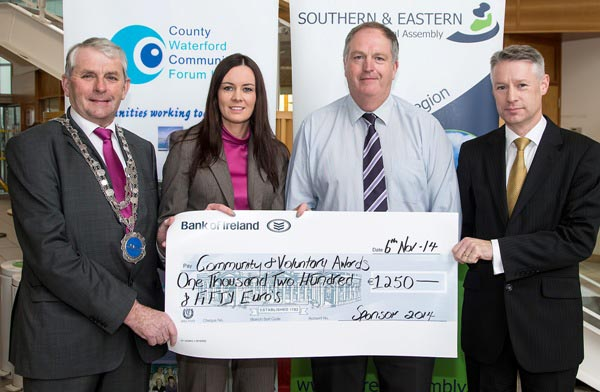 Southern & Eastern Regional Assembly Sponsor of the Waterford City & County Community & Voluntary Awards, Social Enterprise Category. (L-R) Cllr. James Tobin, Waterford City & County Mayor; Sharon Cro