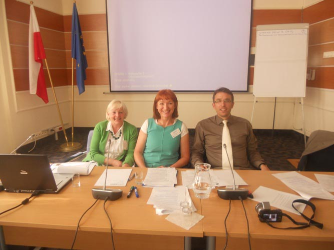 Hana Michalcikova, Ministry of Regional Development, Czech Republic, Derville Brennan, S&E Regional Assembly, Ireland, Peter Fischer, Communication Officer, DG Regional Policy, Inform Network meeting,