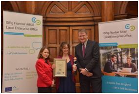 Winner of the Female Entrepreneur of the Year Sabine Hobbel co-founder of Leaves Catering.