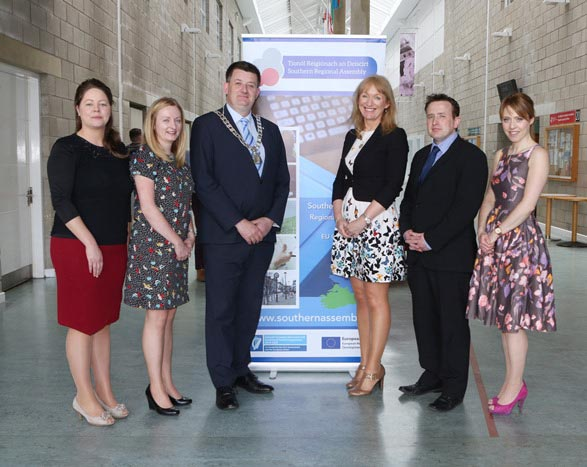 #EU in my Region Open Days Project visit to the ERDF co-funded Shannon ABC centre, Limerick Institute of Technology. (L to R) Dr. Bridget Breen, Shannon ABC; Edel Hunt, Ireland Wales Territorial Progr