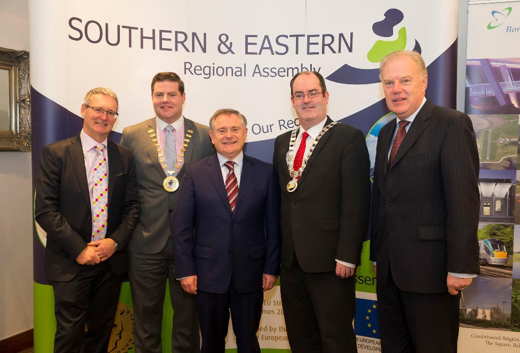 R to L: Mr. Stephen Blair, Director, S&E Regional Assembly.Cllr. Seamus O'Domhnaill, Cathaoirleach, BMW Regional Assembly.Mr. Brendan Howlin, TD, Minister for Public Expenditure and Reform Cllr. Gerry