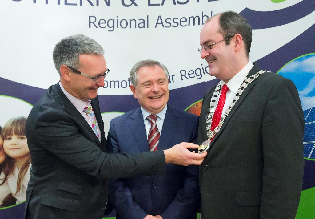 R to L: Mr. Stephen Blair, Director, S&E Regional Assembly. Mr. Brendan Howlin, TD, Minister for Public Expenditure and Reform. Cllr. Gerry Horkan, Cathaoirleach, S&E Regional Assembly.