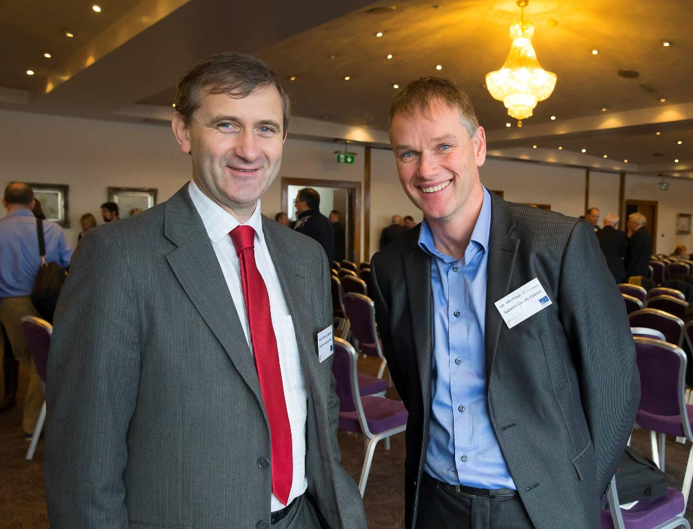 L to R: Mr. Anthony Coleman, Limerick City Council and Mr. Michael Moroney, S&E Regional Assembly, attending the Regional Assemblies Joint Annual Conference 2014 in the Ferrycarrig Hotel, Wexford.