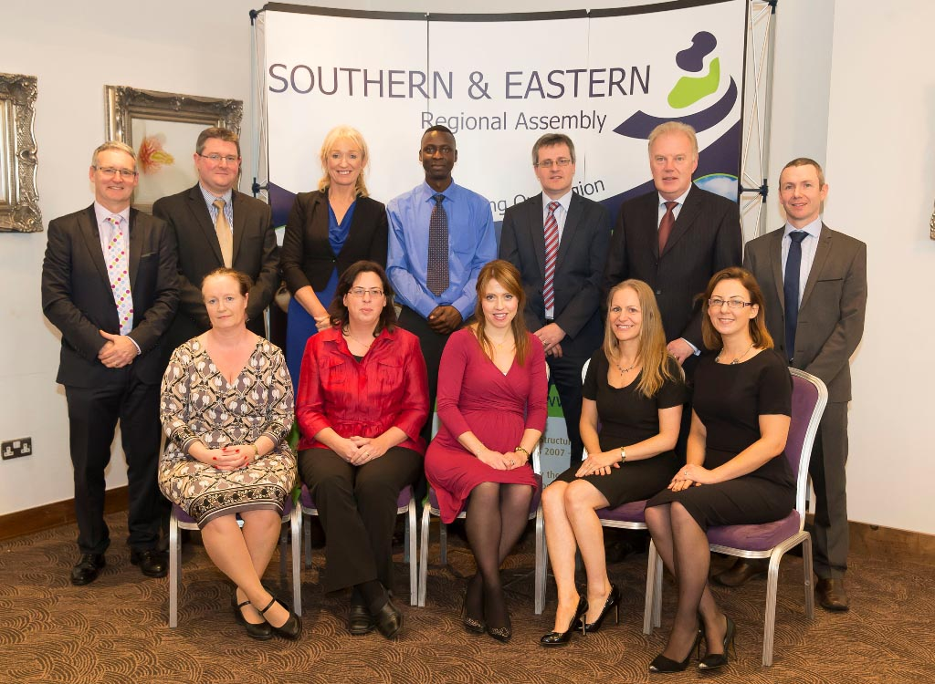 Staff of the BMW and the S&E Regional Assemblies at the Regional Assemblies Joint Annual Conference 2014 in the Ferrycarrig Hotel, Wexford.