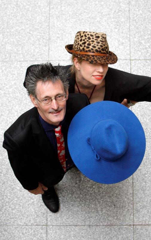 John Shevlin, Shevlin Millinery DCEB client & Sonya Lennon, Sytlist at the www.designerdublin.ie launch.