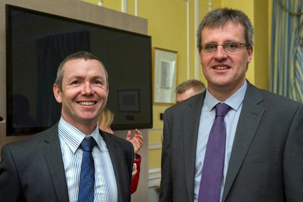 L-R: David Kelly, Asst. Director, S&E Regional Assembly and Kieran Moylan, Asst. Director, BMW Regional Assembly at the GHDI 2012 launch at the Custom House, Dublin, 2nd May 2013.