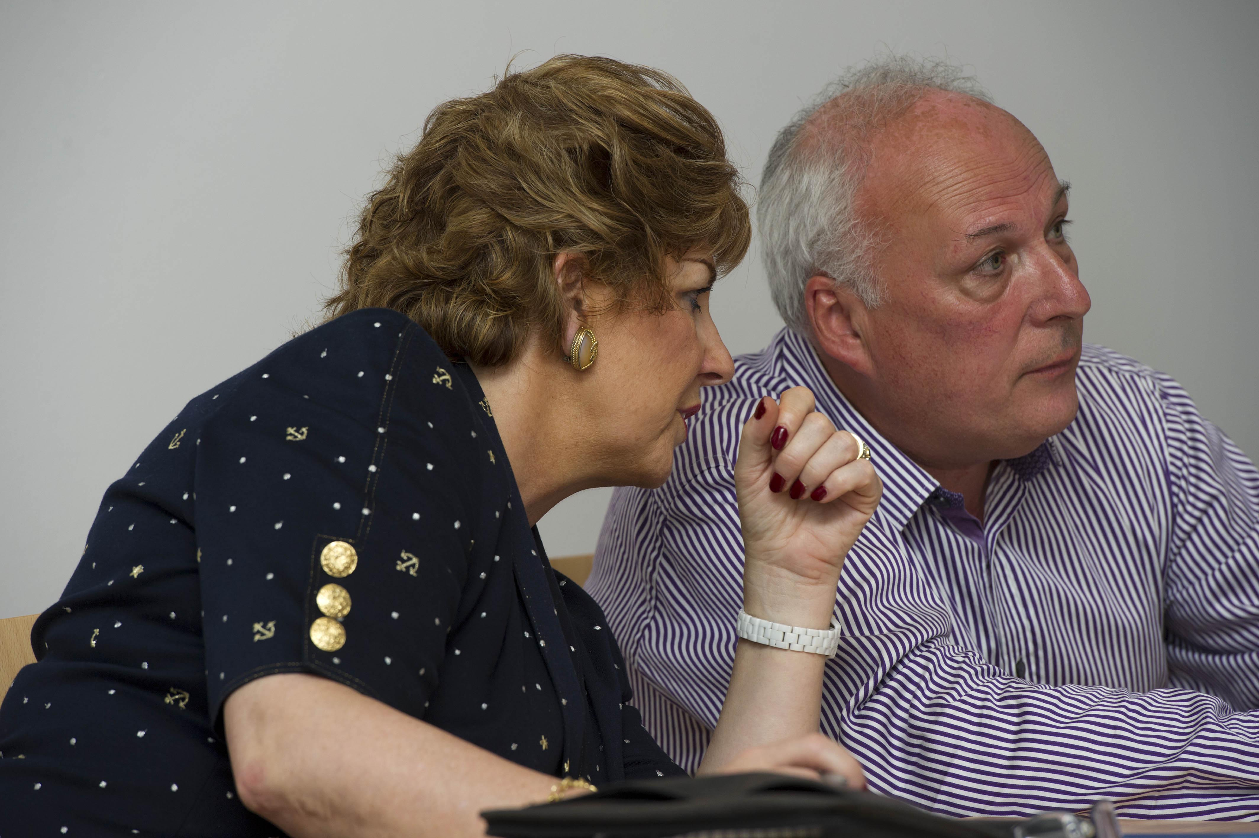 Ms Geraldine Byrne-Nason, Second Secretary-General, Department of An Taoiseach and Cllr Dermot Lacey, Cathaoirleach, S&E Regional Assembly at the Joint Meeting of the Regional Assemblies June 2013.