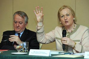 Mr Mark Fielding, Chief Executive ISME and Ms Paula Fitzsimons, Fitzsimons Consulting. Annual Conference 2012