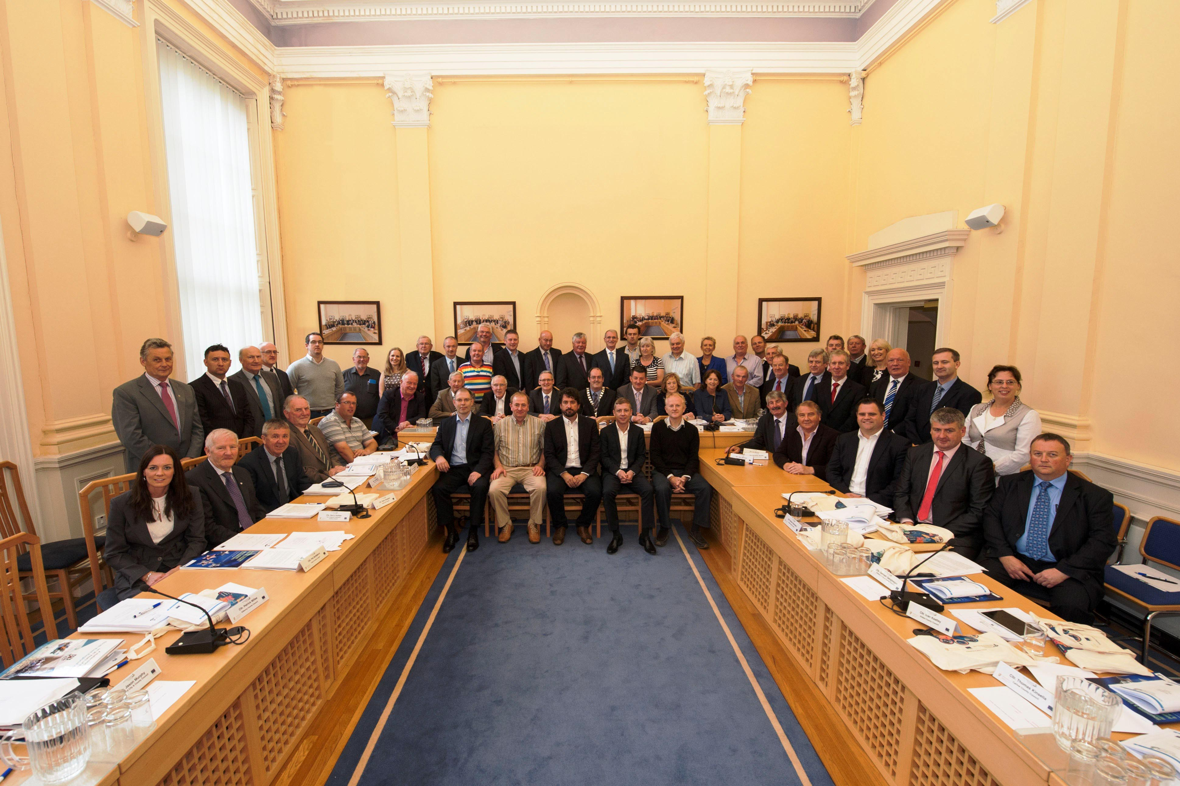 Members and staff of the S&E Regional Assembly, Assembly House, Waterford. AGM, 4th July 2014