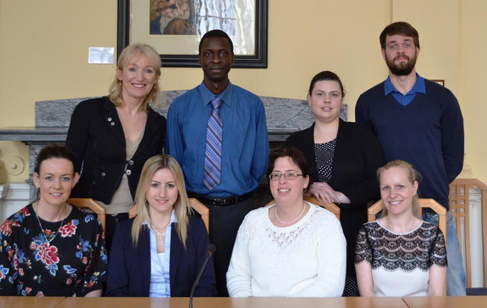 Southern Regional Assembly staff with Ms. Jacqueline Piplitsch, on work placement from the Vienna Business School.