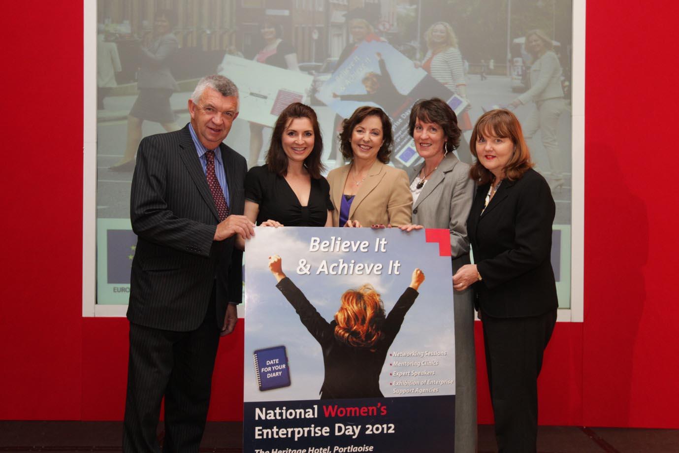 National Womens Enterprise Day Eamon Ryan,County and City Enterprise Boards (NWED organiser);TV3 presenter Colette Fitzpatrick (NWED facilitator);Orlaith Carmody ,Mediatraining.ie (NWED Speaker;Linda
