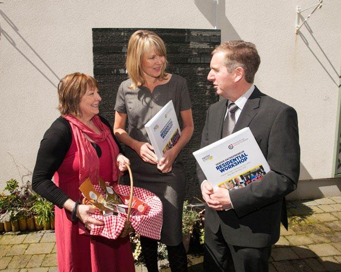 Senior Enterprise- First National Workshop Cathy Whitty,Entrepreneur;Sheelagh Daly,C&CEB;John Byrne,MERA