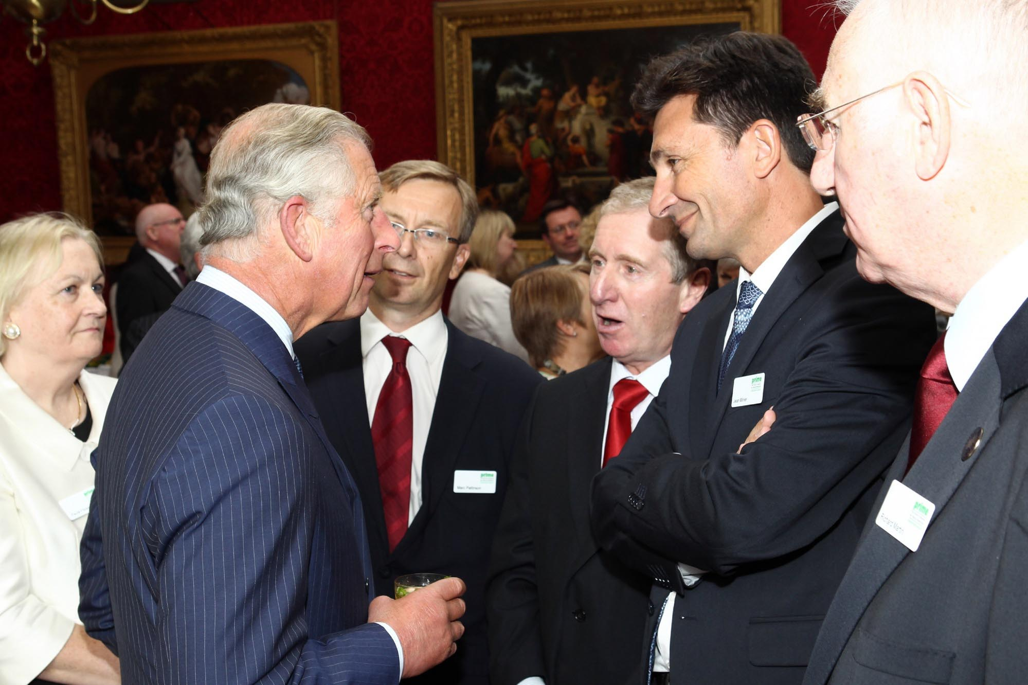 HRH Prince Charles with the Senior Enterprise Partners, St. James Palace, London, September 2013. Senior Enterprise is an INTERREG IV B NWE project. Pictured left to right: Paula Fitzsimons (Project C