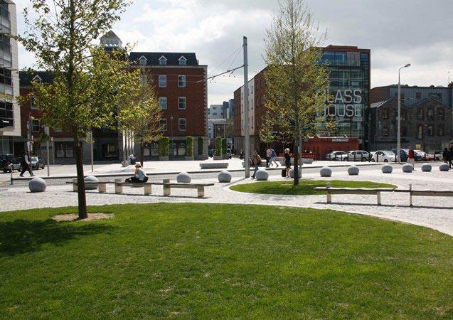 ERDF Gateway scheme funded Smithfield Enhancement Scheme, Dublin City
