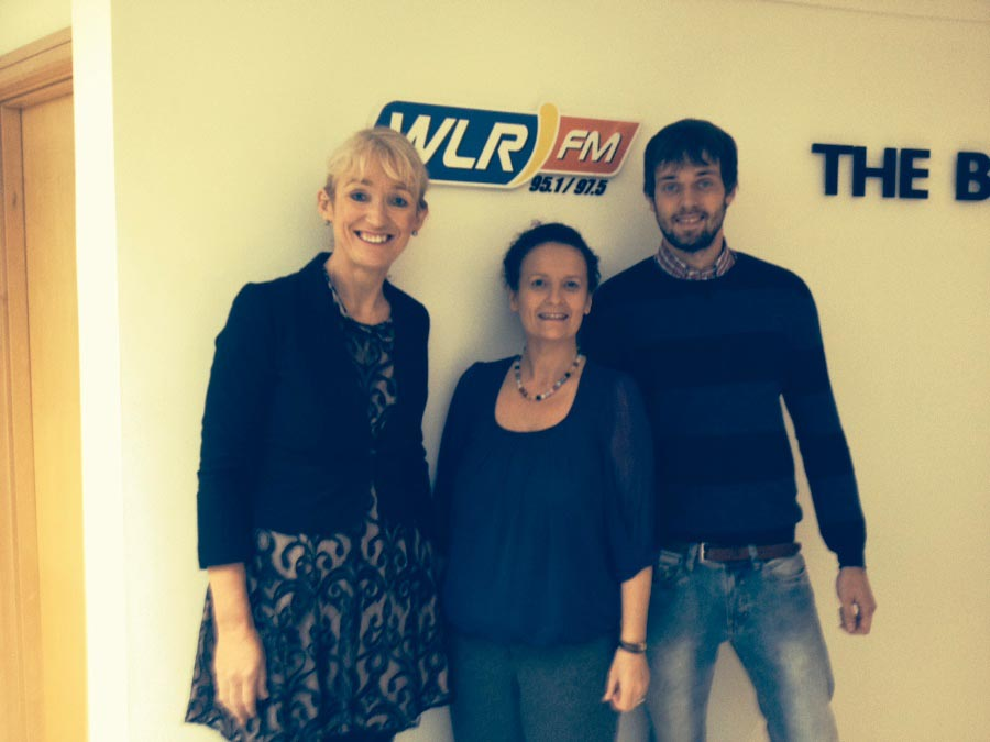 The Southern and Eastern Regional Assembly are sponsors of WLR fm Business News for quarter 4 2014. On a visit to WLR Fm Broadcast Centre today were staff members, Derville Brennan and Alejandro Gomez