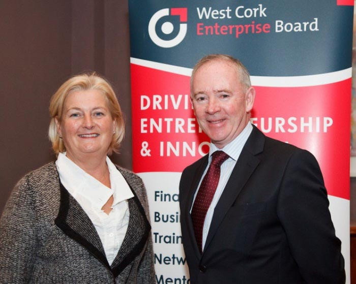 Women in Business Networking Event Colette Twomey ,Clonakilty Pudding; Michael Hanley,West Cork Enterprise Board